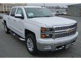 2014 Summit White Chevrolet Silverado 1500 LTZ Crew Cab 4x4 #89351179