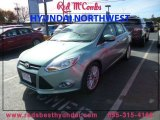 2012 Frosted Glass Metallic Ford Focus SEL Sedan #89381617
