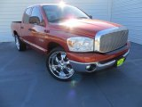 Sunburst Orange Pearl Dodge Ram 1500 in 2008