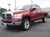 2007 Inferno Red Crystal Pearl Dodge Ram 1500 Big Horn Edition Quad Cab 4x4 #8927720