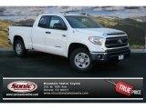 2014 Super White Toyota Tundra SR5 Double Cab 4x4 #89410216
