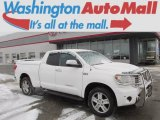 2008 Super White Toyota Tundra Limited Double Cab 4x4 #89433681