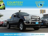 2012 Dark Blue Pearl Metallic Ford F250 Super Duty Lariat Crew Cab 4x4 #89433914