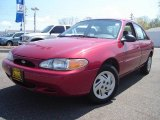 2001 Toreador Red Metallic Ford Escort SE Sedan #8916092