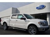 2014 White Platinum Ford F150 Lariat SuperCrew 4x4 #89433702