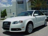 2008 Ibis White Audi A4 2.0T Special Edition Sedan #8916116