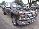 2014 Tungsten Metallic Chevrolet Silverado 1500 LTZ Crew Cab 4x4 #89459226