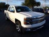 2014 White Diamond Tricoat Chevrolet Silverado 1500 LTZ Crew Cab #89459225