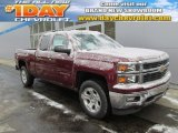 2014 Deep Ruby Metallic Chevrolet Silverado 1500 LT Z71 Double Cab 4x4 #89483734
