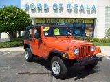 2006 Impact Orange Jeep Wrangler X 4x4 #8922190