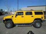 2003 Yellow Hummer H2 SUV #89518829
