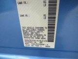 2013 LEAF Color Code for Blue Ocean - Color Code: RBJ