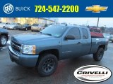 2009 Blue Granite Metallic Chevrolet Silverado 1500 LS Extended Cab 4x4 #89518654