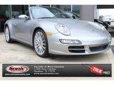 2007 Arctic Silver Metallic Porsche 911 Carrera 4S Cabriolet #89566909