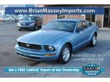 2006 Windveil Blue Metallic Ford Mustang V6 Deluxe Coupe #89607641