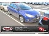 2012 Sonic Blue Metallic Ford Focus SE Sedan #89607352