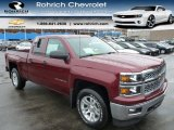 2014 Deep Ruby Metallic Chevrolet Silverado 1500 LT Double Cab 4x4 #89629781