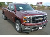 2014 Deep Ruby Metallic Chevrolet Silverado 1500 LT Z71 Double Cab 4x4 #89637251