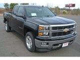 2014 Black Chevrolet Silverado 1500 LT Double Cab 4x4 #89637249