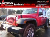 2012 Flame Red Jeep Wrangler Unlimited Sport 4x4 #89673957