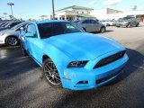 2013 Grabber Blue Ford Mustang V6 Premium Coupe #89674113