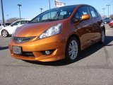 2011 Orange Revolution Metallic Honda Fit Sport #89673909