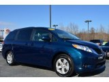 2011 South Pacific Blue Pearl Toyota Sienna LE #89714034