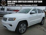 2014 Bright White Jeep Grand Cherokee Overland 4x4 #89714077