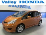2011 Orange Revolution Metallic Honda Fit Sport #89816978