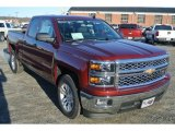 2014 Deep Ruby Metallic Chevrolet Silverado 1500 LT Double Cab #89817394