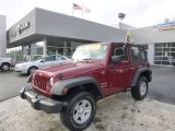 2012 Deep Cherry Red Crystal Pearl Jeep Wrangler Sport 4x4 #89817299