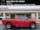 2012 Flame Red Dodge Ram 1500 SLT Quad Cab 4x4 #89817090