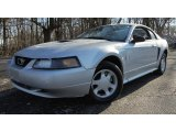 2002 Satin Silver Metallic Ford Mustang V6 Coupe #89858228