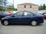 2007 Royal Blue Pearl Honda Civic LX Sedan #8965433