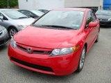2007 Rallye Red Honda Civic Si Sedan #8965438