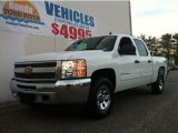 2012 Summit White Chevrolet Silverado 1500 LS Crew Cab 4x4 #89882768