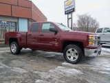 2014 Deep Ruby Metallic Chevrolet Silverado 1500 LTZ Z71 Double Cab 4x4 #89882330