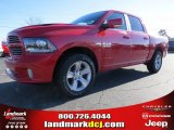 2014 Flame Red Ram 1500 Sport Crew Cab #89882430