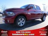 2014 Deep Cherry Red Crystal Pearl Ram 1500 Sport Crew Cab #89882421