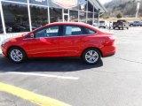 2012 Race Red Ford Focus SEL Sedan #89882304
