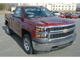 2014 Deep Ruby Metallic Chevrolet Silverado 1500 WT Regular Cab 4x4 #89916253