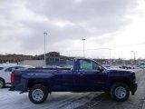 2014 Blue Topaz Metallic Chevrolet Silverado 1500 WT Regular Cab 4x4 #89980734