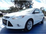 2012 Oxford White Ford Focus SEL 5-Door #89980726