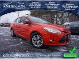 2012 Race Red Ford Focus SEL Sedan #89981079