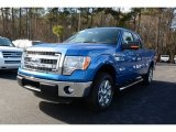 2014 Blue Flame Ford F150 XLT SuperCab #89980965