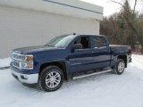 2014 Blue Topaz Metallic Chevrolet Silverado 1500 LT Crew Cab 4x4 #90017143