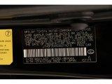 2003 ES Color Code for Black Onyx - Color Code: 202