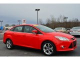 2012 Race Red Ford Focus SEL Sedan #90100315