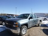2014 Blue Granite Metallic Chevrolet Silverado 1500 WT Double Cab #90125064