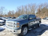 2014 Blue Granite Metallic Chevrolet Silverado 1500 LT Double Cab 4x4 #90125063